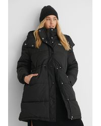 Fila Black Tender Long Puffer Jacket
