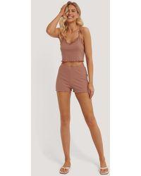NA-KD Pink Babylock Lounge Shorts