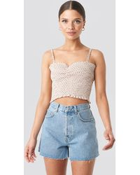 NA-KD Trend Denim High Waist Shorts - Blau