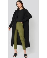 NA-KD Knitted Long Cardigan Black