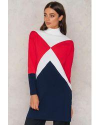 7388ffb1a5f Tommy Hilfiger - Gigi Hadid Graphic Mock Dress Snow White true Red midnight  -