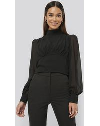 NA-KD - Misslisibell x High Neck Puff Sleeve Blouse - Lyst