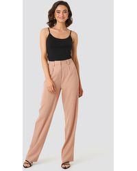 NA-KD Flared Striped Pants - Rose