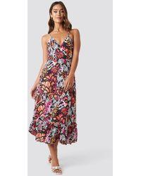 Trendyol Strap Flounce Ankle Dress - Meerkleurig