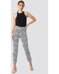 NA-KD Zebra Denim Pants - Meerkleurig