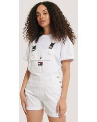 Tommy Hilfiger White Dungaree Short