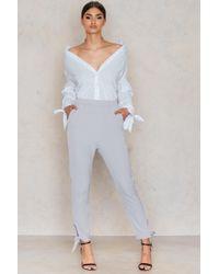 Lavish Alice - Cuff Detail Tailored Joggers - Lyst