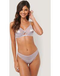 NA-KD Purple Blush Detail Satin Panty