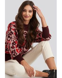 Trendyol Patterned Knitted Sweater - Rood