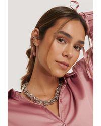 NA-KD Accessories Halskette Mit Verflochtener Kette - Mettallic
