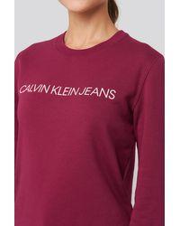 Calvin Klein Ïnstitutional Regular Crew Neck Sweatshirt - Meerkleurig