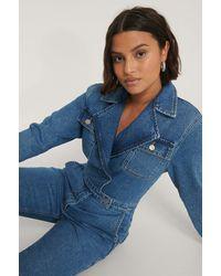 NA-KD Biologique Combinaison Pantalon Cache-coeur - Bleu