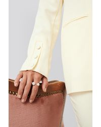 NA-KD Pearl Ring Gold - Metallic