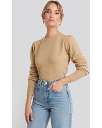 NA-KD - Puff Sleeve Sweater - Lyst