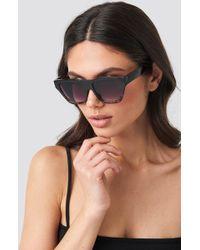 NA-KD Two-toned Shield Sunglasses Black
