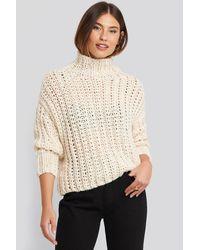Mango Handmade Sweater - Naturel