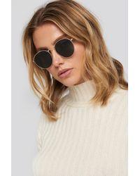 NA-KD Round Metal Sunglasses - Metallic