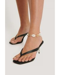 NA-KD Shell Anklet - Metallic