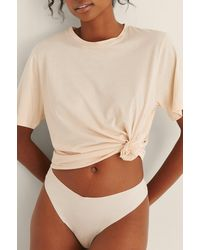 NA-KD Lingerie Oversize-T-Shirt Soft Comfort - Natur