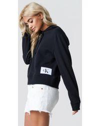 b06e7906b4644 Calvin Klein - Harrisom True Icon Hoody Ck Black bright White - Lyst