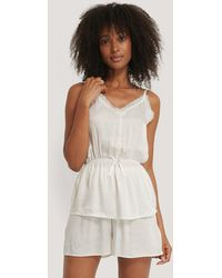Trendyol White Satin Pyjamas Set