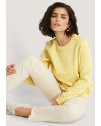 Calvin Klein Institutional Regular Crew Neck Sweater - Geel