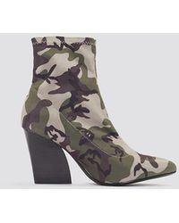 NA-KD Camo Sock Boots - Meerkleurig