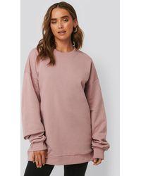 NA-KD Pink Oversized Crewneck Sweatshirt