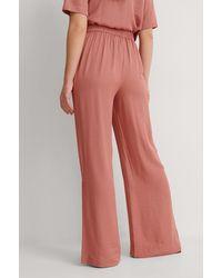 NA-KD Reborn Pantalon De Costume À Jambe Large - Rose