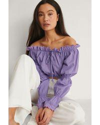 Trendyol Purple Mia Beach Blouse