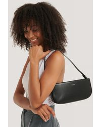 NA-KD Baguette Bag - Zwart