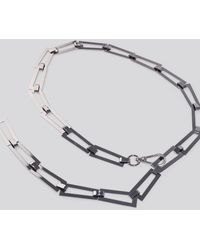 NA-KD Accessories Squared Chain Belt - Mehrfarbig