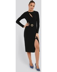 Trendyol Accessory Detail Dress - Zwart