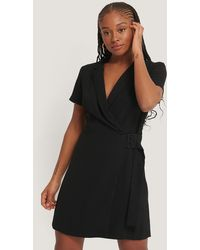 Mango Mini-jurk Met Riem - Zwart