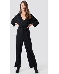 NA-KD Black Glittery Jumpsuit