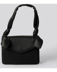 NA-KD Knot Envelope Crossbody Bag - Noir
