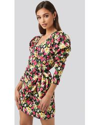 NA-KD - Party Sweetheart Neck Wrap Dress - Lyst