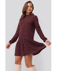 NA-KD Round Neck Jersey Dress - Pink
