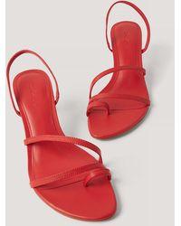 Mango Red Loma Sandals