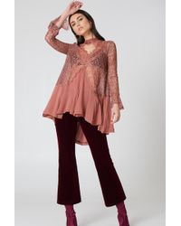 Free People - New Tell Tale Lace Long Sleeve Tunic - Lyst