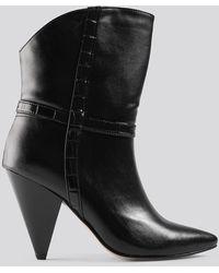 Trendyol Cone Heel Boots - Zwart