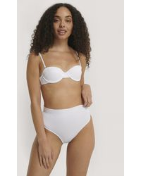 Trendyol White Textured Bikini Bottom