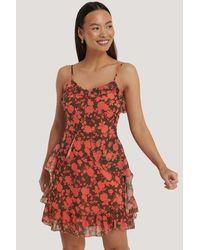 Trendyol - Floral Printed Mini Dress - Lyst