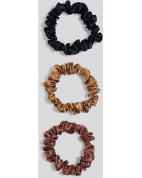 NA-KD - 3-pack Slim Scrunchies Multicolor - Lyst