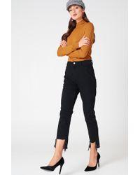 NA-KD - Ripped Hem Jeans - Lyst