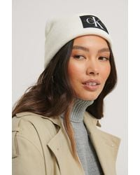 Calvin Klein Beanie Met Logo - Wit