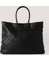 NA-KD Accessories Braided Shopper - Schwarz