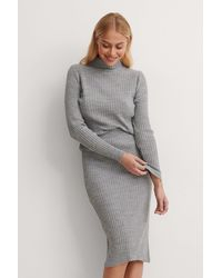 Trendyol Knitted Top Bottom Set - Grau