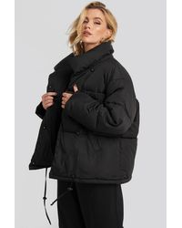 NA-KD Padded Oversized Jacket - Zwart