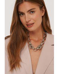 NA-KD Accessories Halskette Mit Übergroßer Klobiger Kette - Mettallic